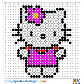 Hello Kitty 3 buegelperlen vorlagen web 2ee7b
