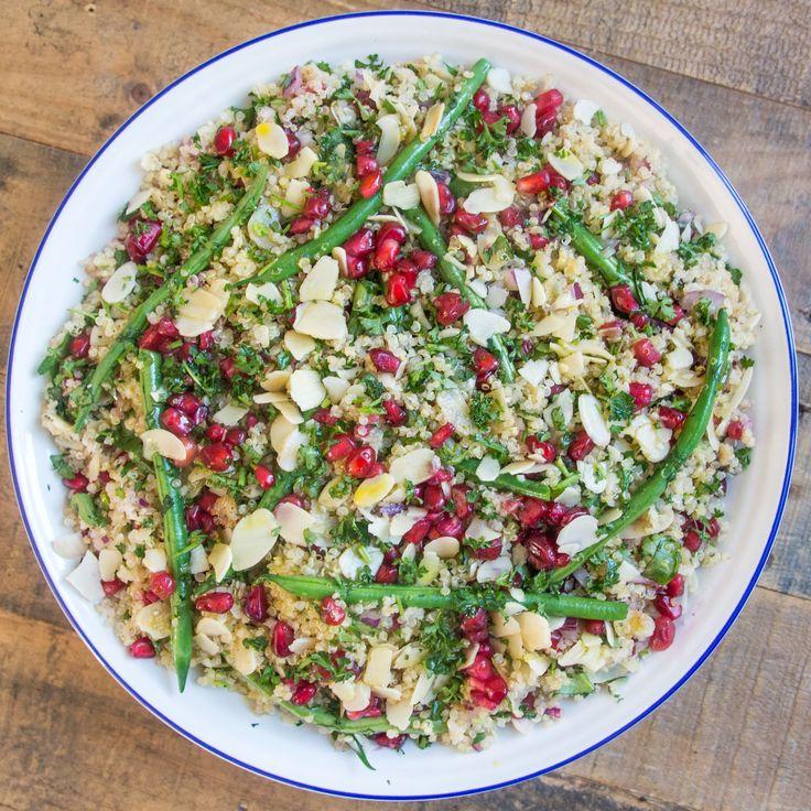 Jewelled Quinoa Salad with Lemon Tahini Dressing | Deliciously Ella #recipe #vegan