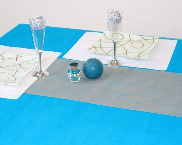 chemin de table gris 100m - Chemin De Table Color
