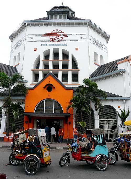 Post Office, Medan, Indonesia. Established in 1911, by Dutch architect Snuyf.
