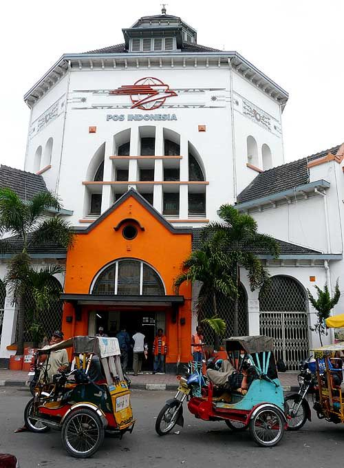 Post Office, Medan, Indonesia. Established in 1911, by Dutch architect Snuyf.