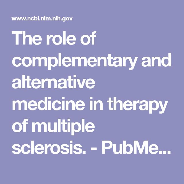 The role of complementary and alternative medicine in therapy of multiple sclerosis. - PubMed - NCBI