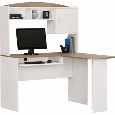 L-Shaped Computer Corner Home Office Desk with Hutch – Vick's Great Deals