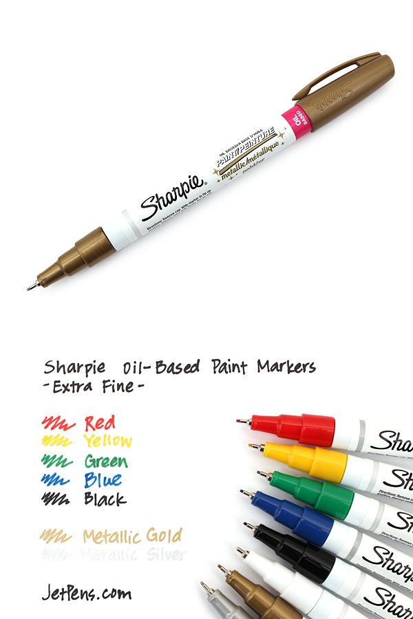 This metallic oil based paint marker can write on for Paint pens for wood crafts