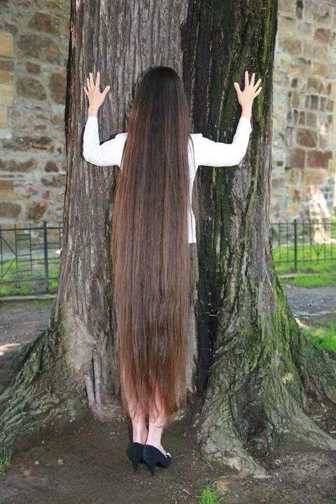 Long hair to floor | Long hair rapunzel | Long hair styles ...