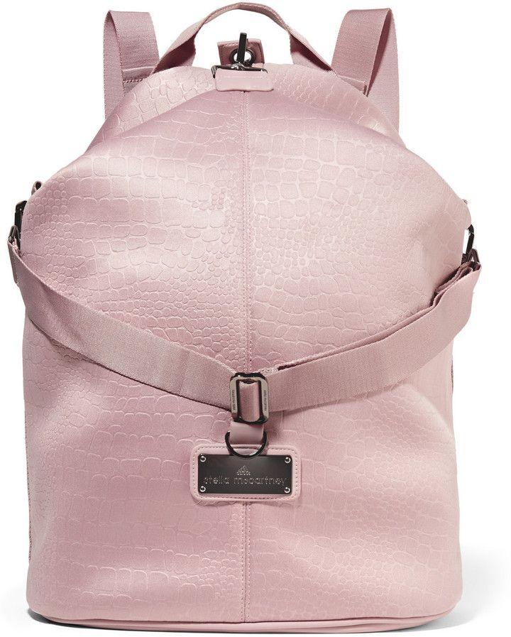 Adidas by Stella McCartney Croc-Effect Neoprene Backpack