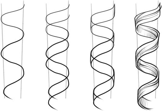 How to draw ringlets