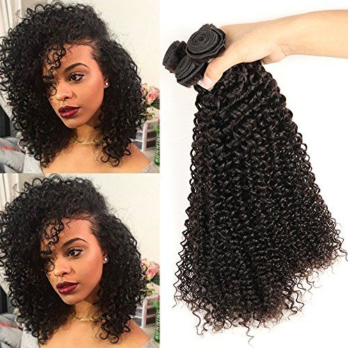 8a natural human hair,kinky curly weave