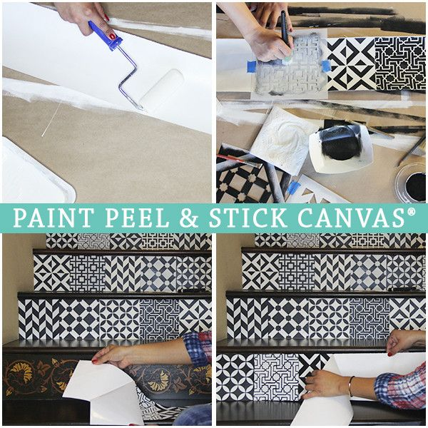 Paint Peel and Stick Canvas - Removable Canvas for Stenciled Decor Projects - Royal Design Studio