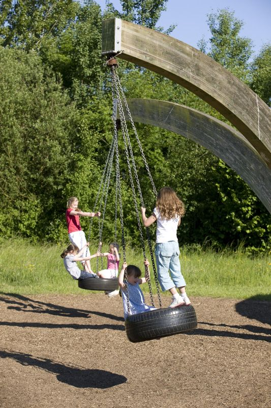 17 best images about child friendly garden ideas on for Tyre swing ideas