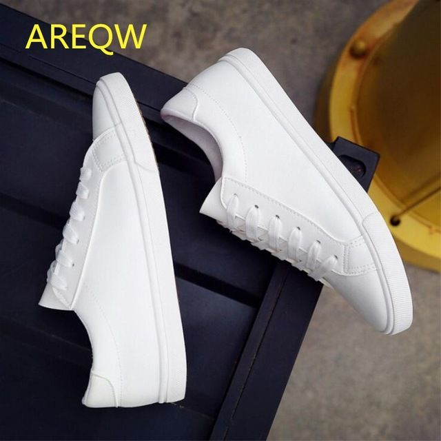 Good Price $12.59, Buy 2016 New Spring and Summer With White Shoes Women Flat Leather Canvas Shoes Female White Board Shoes Casual Shoes Female