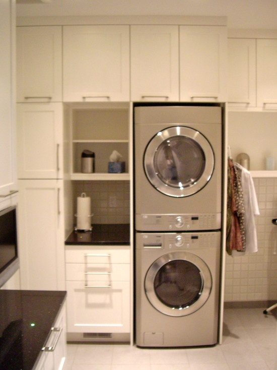 Stacking Washing Machine And Dryer Laundry Scullery