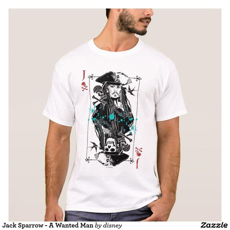 Jack Sparrow - A Wanted Man. Producto disponible en tienda Zazzle. Vestuario, moda. Product available in Zazzle store. Fashion wardrobe. Regalos, Gifts. Trendy tshirt. #camiseta #tshirt