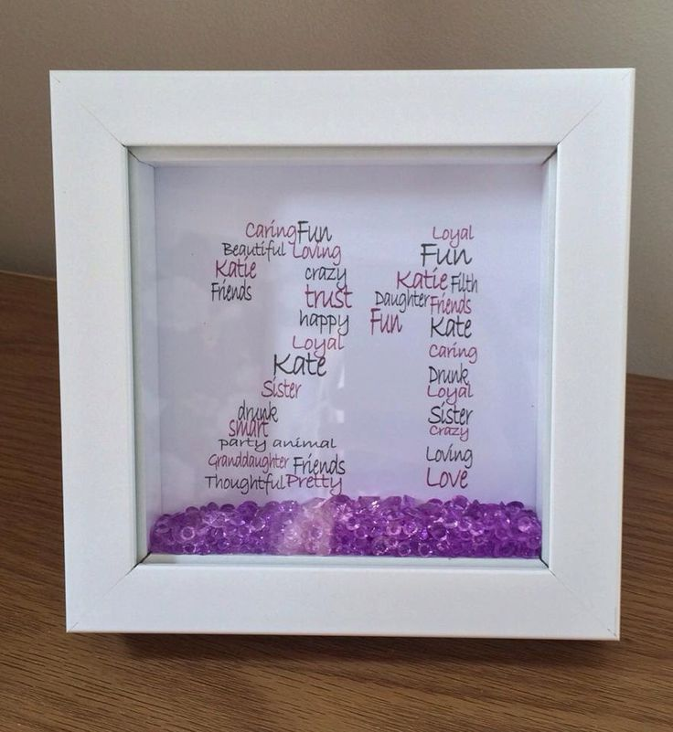 Wall Art ~ Personalised, personalized shadow box frame 21st birthday word art design ~ choose own colours and words ~ home decoration by FunkyDesignsbyDi on Etsy