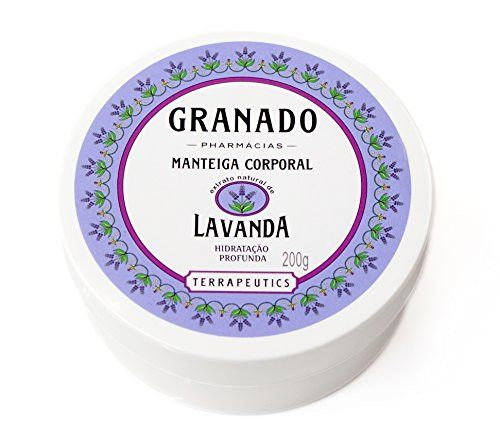 Linha Terrapeutics Granado - Manteiga Corporal Lavanda 200 Gr - (Granado Terrapeutics Collection - Lavender Body Butter Net 7.1 Oz)