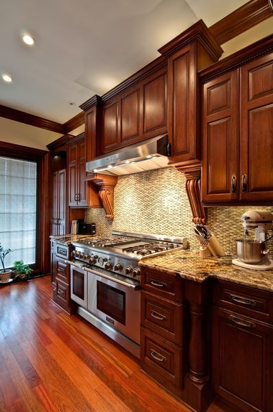 Cool 40 Amazing Cherry Wood Cabinets Kitchen https://homstuff.com/2017/06/21/40-amazing-cherry-wood-cabinets-kitchen/