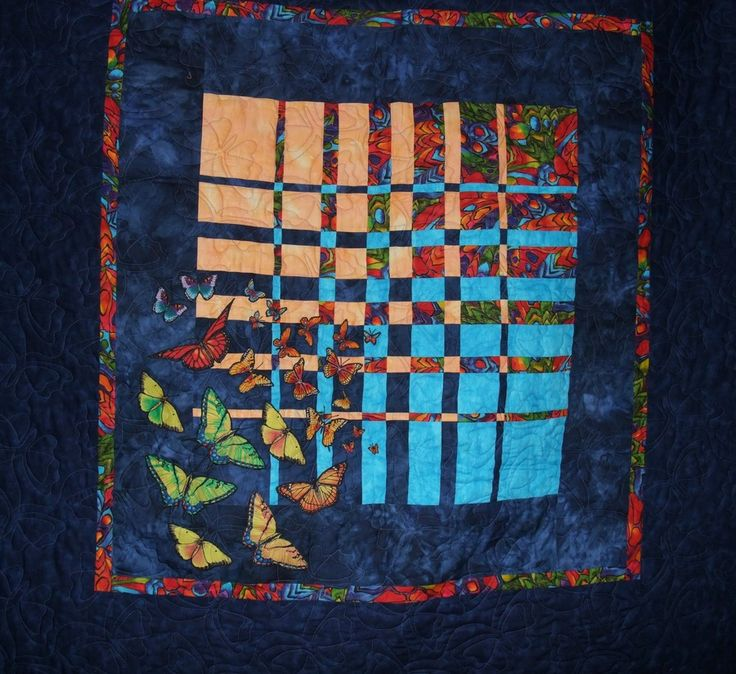 Rabble of Butterflies  Quilt #: 1023106  Added on 04/25/2014 By: Penny de Jong Year Made: 2009 Perth, WA Australia Made for a sister who loves butterflies. Inspired by the convergence quilting method by Ricky Tims.