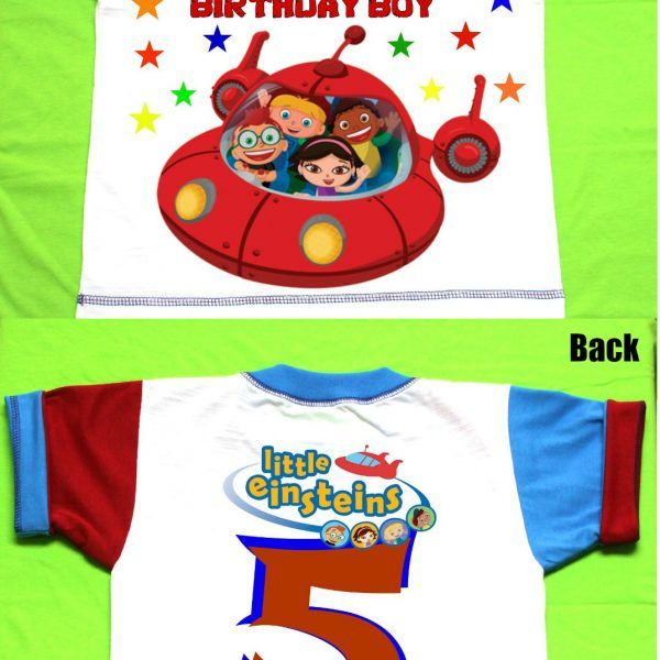 Birthday Shirt Little Einsteins Custom Age and Name