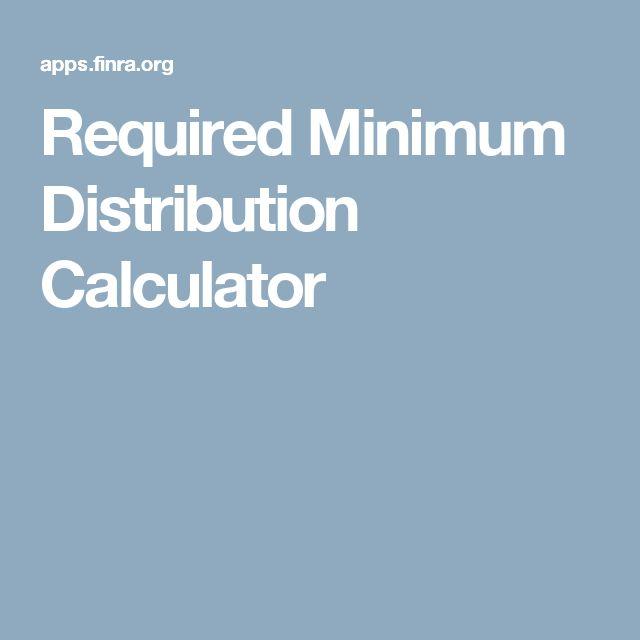 Required Minimum Distribution Calculator