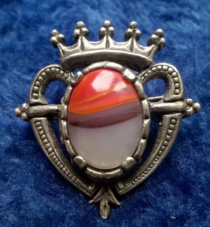 Vintage Miracle Brooch, Celtic Brooch, Heart, Sweetheart, Vintage Jewelry, Jewellery, Agate, Scotland, Scottish, Collectible Brooch, Gift by TillyofBloomsbury on Etsy