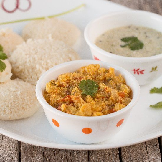 Healthy gravy with lentils and spices. Perfect side dish to flat bread, idli, dosa and more.