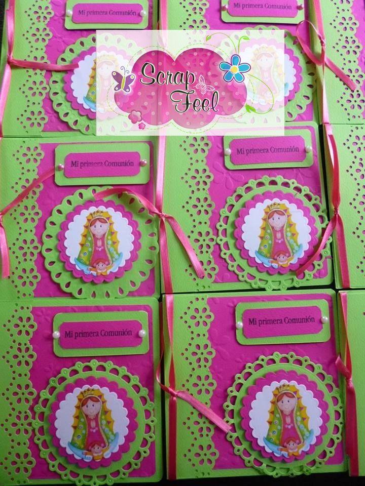 tarjeta primera comunion niñas