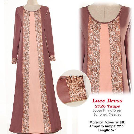 2726Pastel Tone Laced Islamic Muslim Abaya Long by MissMode21, $34.00