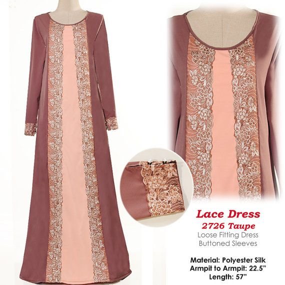 2726Pastel Tone Laced Islamic Muslim Abaya Long by MissMode21, $34.00