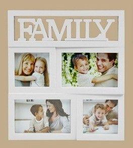 Fali fényképtartó, Family, 4 képhez (képkeret)