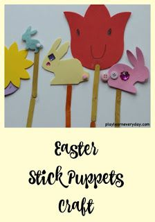 A fun and easy craft to make puppets for Easter. #easter #kidscrafts #eastercraft