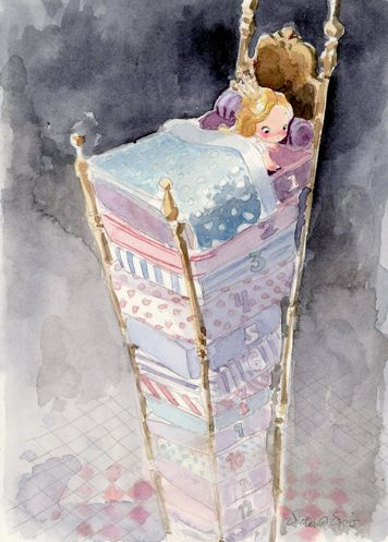 Pricessia Piea by Victoria Ying | Watercolor painting artwork