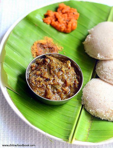 Chitra's Food Book: Kathirkai Gothsu - Chidambaram Brinjal Gothsu - Si...