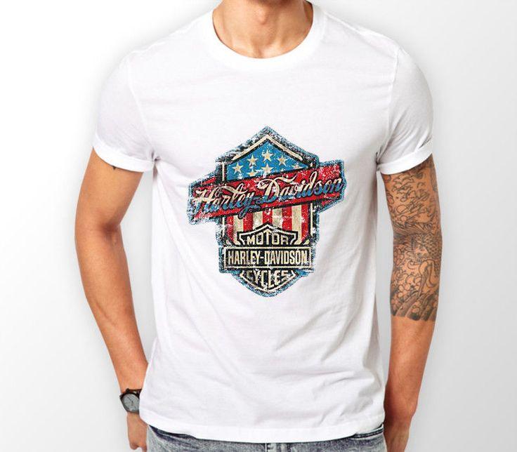 Harley Davidson T Shirt Motorcycle Biker Retro Vintage Classic Motorbike BSA Tee