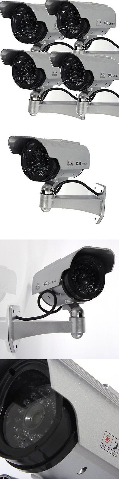 Dummy Cameras: Masione 4 Pack Solar Powered Fake Dummy Security Camera With Blinking Led New -> BUY IT NOW ONLY: $35.39 on eBay!