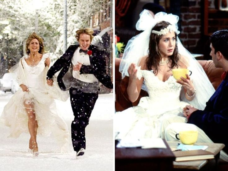 jennifer aniston wedding dress friends wwwpixsharkcom
