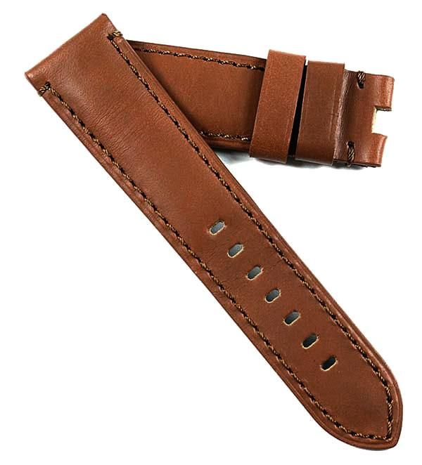 TC Tuscan Calf in Windsor Cocoa Tan for Deployant buckles 24/22 125/75