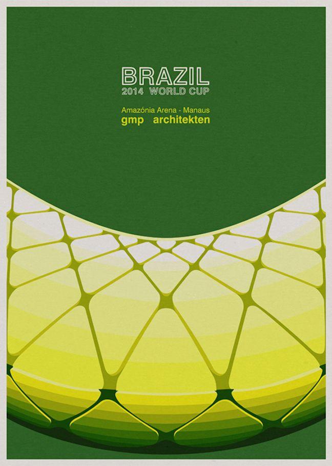 Serie de posters Brasil 2014...