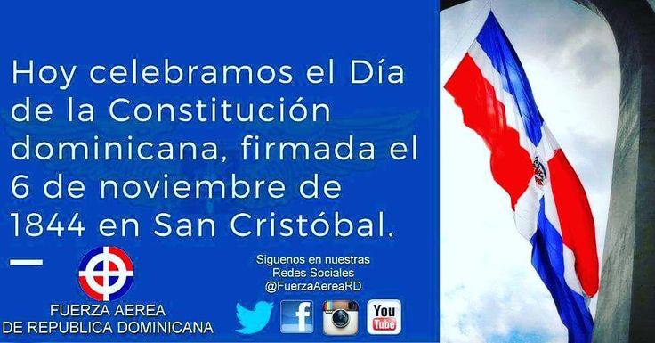 Hoy celebramos el 173 Aniversario de la Constitución de la República Dominicana. Que Viva la Patria! #CartaMagna  Nuestra primera Constitución fue proclamada el 6 de Noviembre del año 1844 en la ciudad de San Cristóbal surgida de los acontecimientos de nuestra Independencia del 27 de Febrero sobre la cual se hizo realidad la existencia del Estado Dominicano.