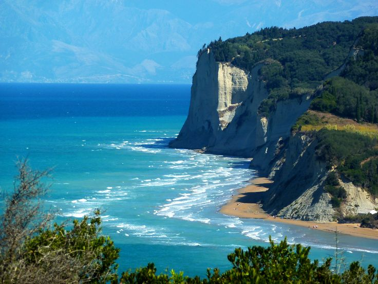 An other side of Agios Stefanos #beach in #Corfu! Amazing Ionian Sea!