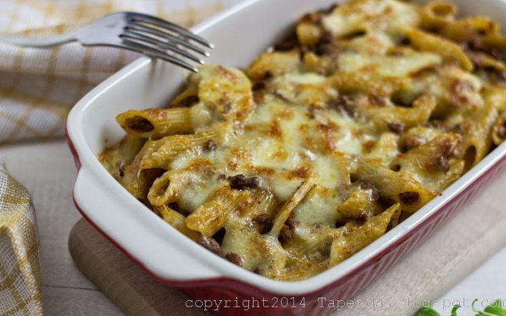 TAPENDA Przepisy Kulinarne na każdy dzień: Zapiekanka Makaronowa z Sosem Bolońskim