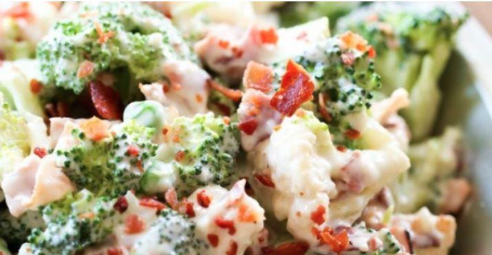 Elle est fraîche et savoureuse… la salade de brocoli et chou-fleur! #salade #fraîcheur #brocolis #chou-fleur #repas #santé