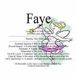 Faye name means faith or fairy