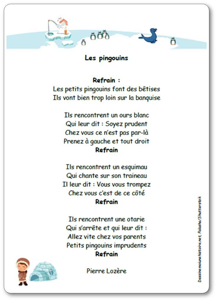 Chanson Les pingouins de Pierre Lozère