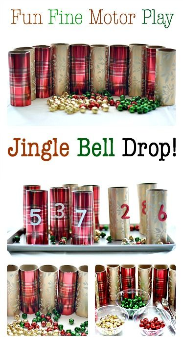 Jingle Bells Fine Motor Activity for kids.