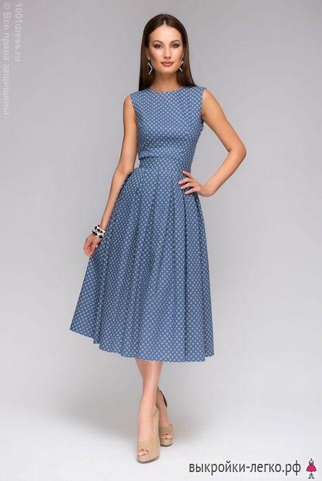 Фасон платья легко сшить