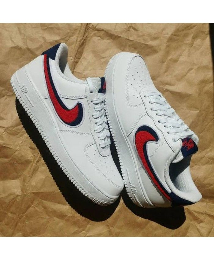 newest 957fc 48a35 Latest Nike Air Force 1 Low Chenille Swoosh White Leather