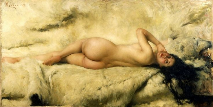 Giacomo Grosso – Nudo Sdraiato (oil on canvas, 1896)