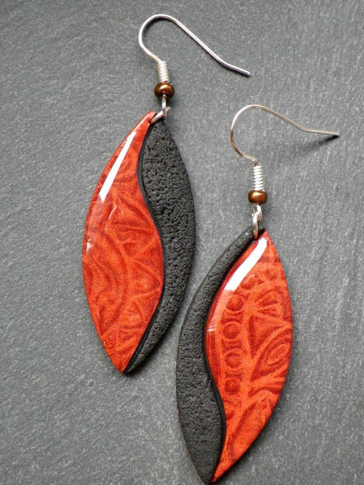 originelle2 - polymer clay earrings                                                                                                                                                                                 Plus