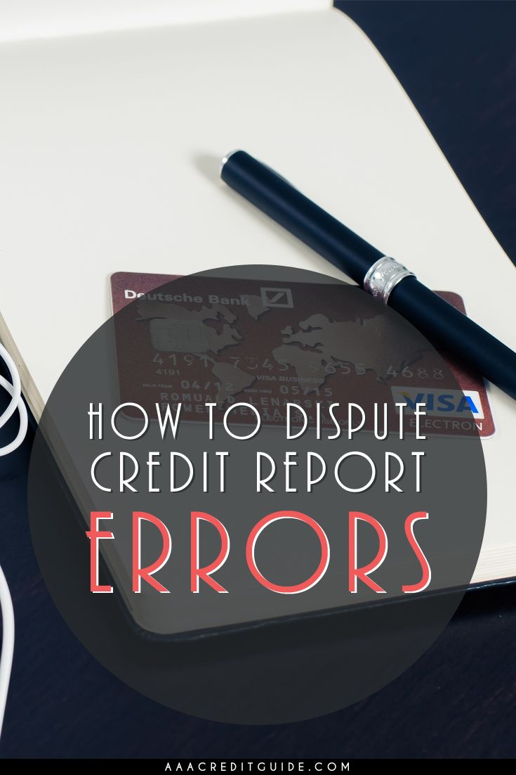 Don't let errors on your credit reports ruin your credit. By law, credit bureaus have a responsibility to report accurate information about you.