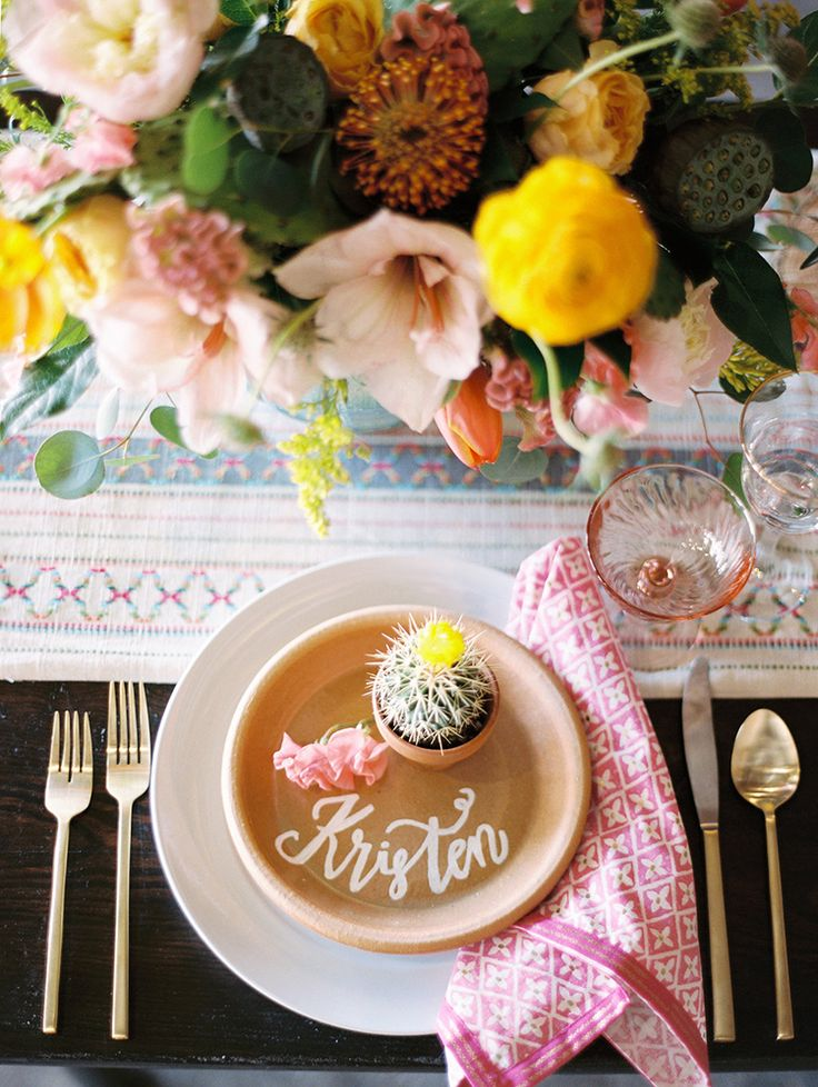 colorful summer wedding ideas - photo by Charla Storey Photography http://ruffledblog.com/summer-loving-wedding-inspiration-with-a-fiesta-brunch